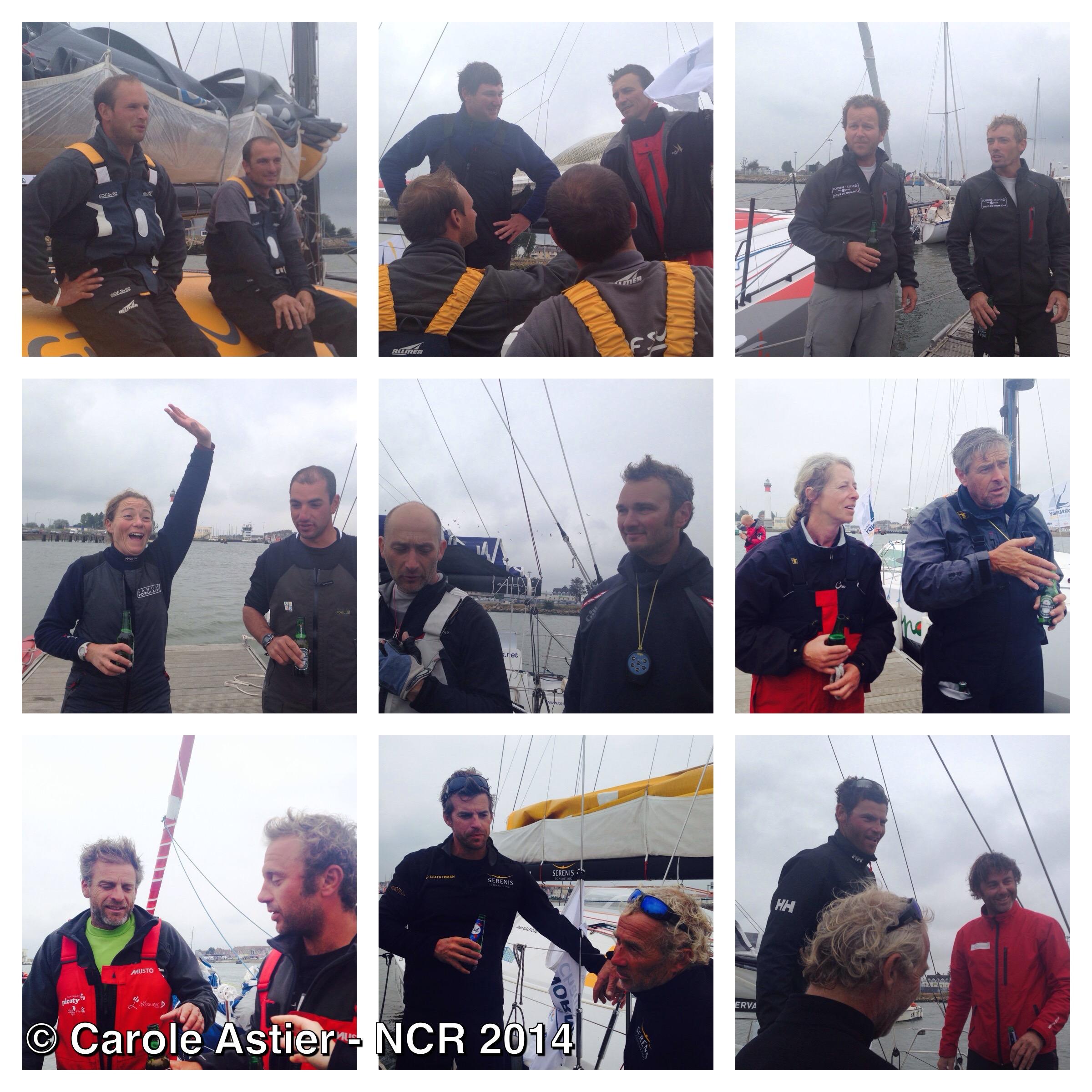 Arrivées Normandy Channel Race 2014