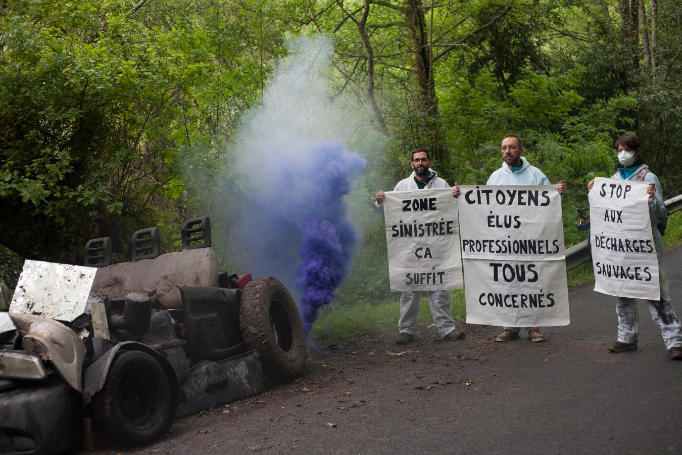 Nettoyage citoyen zone naturelle, Bayonne
